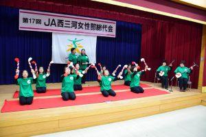 寺津支部の民謡「花笠音頭」の発表