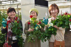 花切り作業の体験