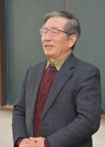 就任あいさつする松井新部会長